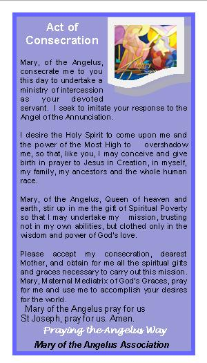Angelus 2016 Prayer Card Conscation Prayer